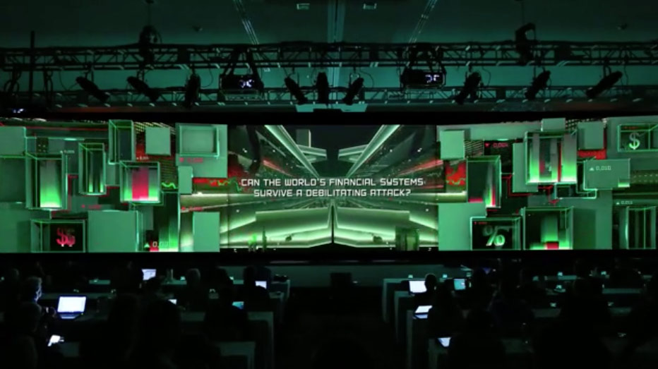 Kaspersky Custom 3D projection Wall