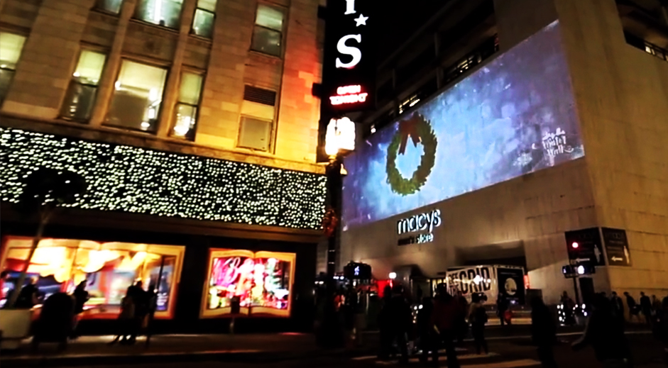 Macy's Building Projection