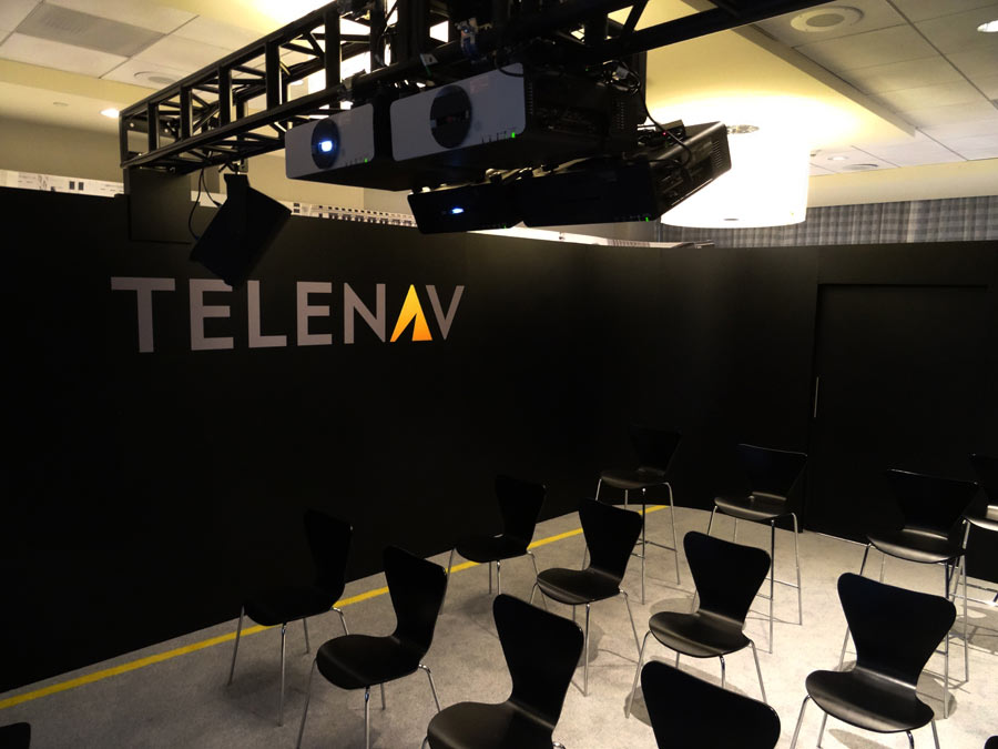 TELENAV CES Projection Art